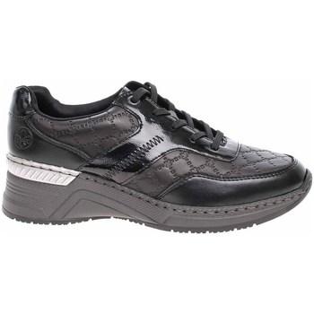 Cipők Női Rövid szárú edzőcipők Rieker N432000 Fekete