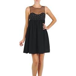 Ruhák Női Rövid ruhák Manoush ROBE ETINCELLE Fekete