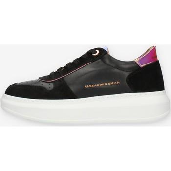 Cipők Női Rövid szárú edzőcipők Alexander Smith L116711 Fekete