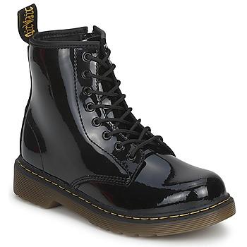 Cipők Gyerek Csizmák Dr Martens DELANEY Fekete