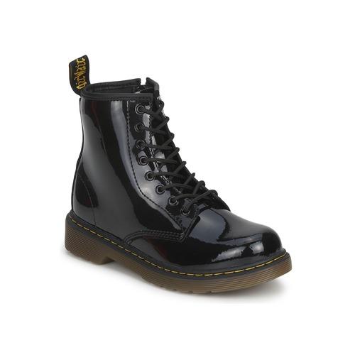 Cipők Lány Csizmák Dr Martens DELANEY Fekete