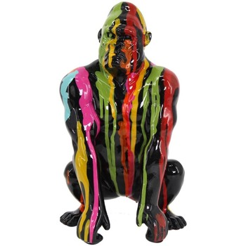 Otthon Szobrok, figurák Signes Grimalt Gorilla Grafiti Figura Multicolor