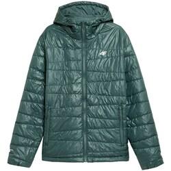 Ruhák Férfi Kabátok 4F KUMP005 Zöld