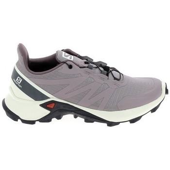 Cipők Futócipők Salomon Supercross 5 Parme Bézs