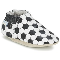 Shoes Fiú Baba mamuszok Robeez GOAL Fekete  / Fehér