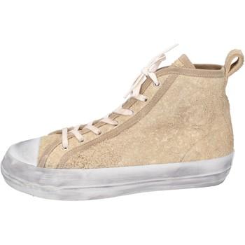 Cipők Férfi Magas szárú edzőcipők Moma BH922 Bézs