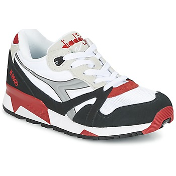 Cipők Rövid szárú edzőcipők Diadora N9000  NYL Fehér / Fekete  / Piros
