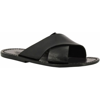 Cipők Női Papucsok Gianluca - L'artigiano Del Cuoio 560 U NERO CUOIO nero