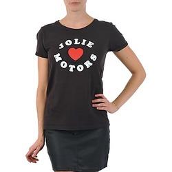 Ruhák Női Rövid ujjú pólók Kulte LOUISA JOLIEMOTOR 101954 NOIR Fekete