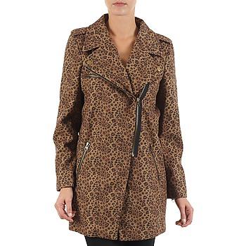 Ruhák Női Kabátok Brigitte Bardot BB43110 Barna / Leopárd