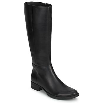 Cipők Női Városi csizmák Geox MENDI STIVALI BASIC Fekete