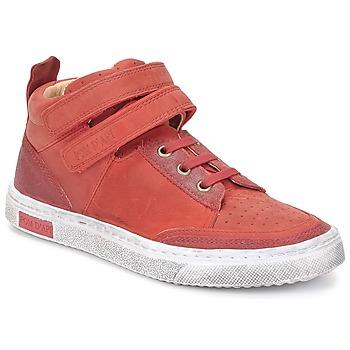 Cipők Lány Magas szárú edzőcipők Pom d'Api BACK BASKET Piros