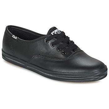 Cipők Női Rövid szárú edzőcipők Keds CHAMPION LEATHER Fekete