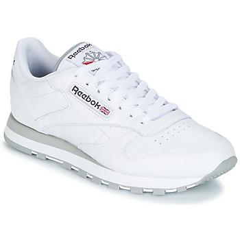Shoes Férfi Rövid szárú edzőcipők Reebok Classic CL LEATHER Fehér