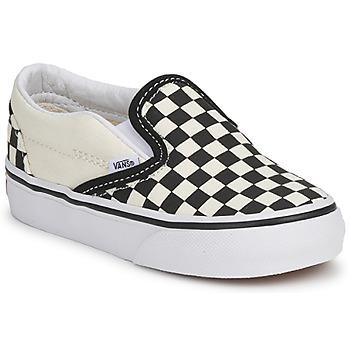 Cipők Gyerek Belebújós cipők Vans CLASSIC SLIP ON KIDS Fekete  / Fehér