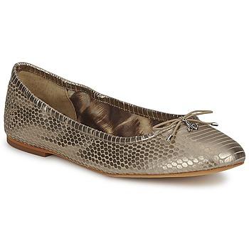Cipők Női Balerina cipők / babák Sam Edelman FELICIA Világos / Arany / Fémes / Kígyó