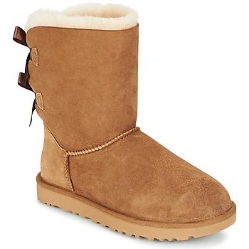 Cipők Női Csizmák UGG BAILEY BOW II Bézs