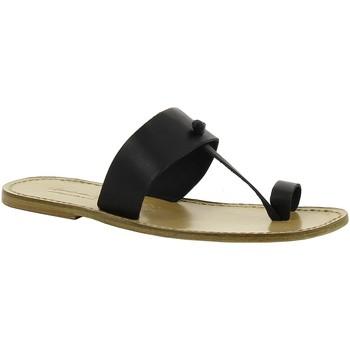 Cipők Női Papucsok Gianluca - L'artigiano Del Cuoio 554 U NERO LGT-CUOIO nero