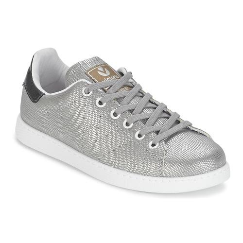 Cipők Női Rövid szárú edzőcipők Victoria DEPORTIVO BASKET TEJIDO FANT Ezüst