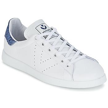 Cipők Rövid szárú edzőcipők Victoria DEPORTIVO BASKET PIEL Fehér / Kék