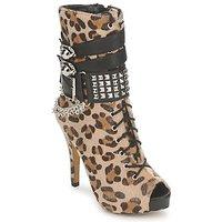 Cipők Női Bokacsizmák Abbey Dawn PLATFORM BOOTEE Leopárd / Nyomtatott