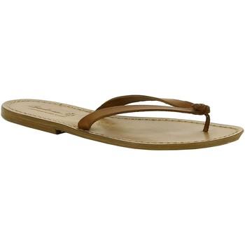 Cipők Női Papucsok Gianluca - L'artigiano Del Cuoio 540 D CUOIO CUOIO Cuoio