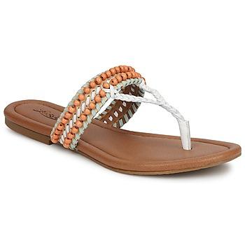 Cipők Női Szandálok / Saruk Lucky Brand DOLLIS Bőrszínű / Fehér / Menta