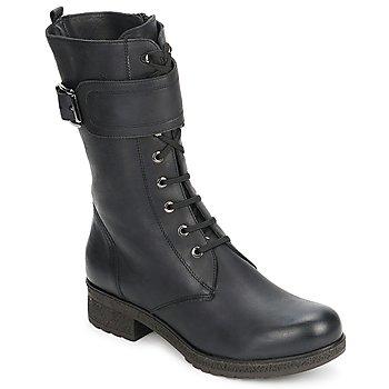 Cipők Női Városi csizmák Unisa BLACK Fekete