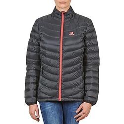 Ruhák Női Steppelt kabátok Salomon Jacket HALO DOWN JACKET W BLACK Fekete