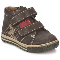 Shoes Fiú Magas szárú edzőcipők Citrouille et Compagnie ESCLO Barna / Piros