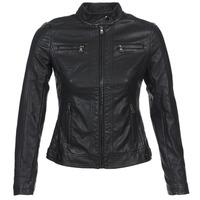 Ruhák Női Bőrkabátok / műbőr kabátok Moony Mood DUIR Fekete