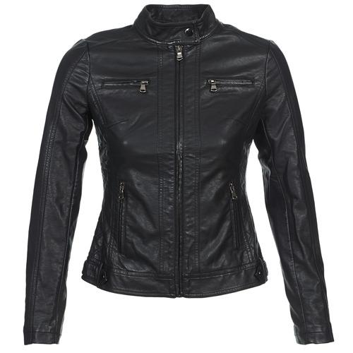 Ruhák Női Bőrkabátok / műbőr kabátok Moony Mood IDESCUNE Fekete