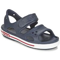 Shoes Fiú Klumpák Crocs CROCBAND II SANDAL PS Tengerész / Fehér