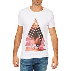 Ruhák Férfi Rövid ujjú pólók Eleven Paris MIAMI M MEN Fehér