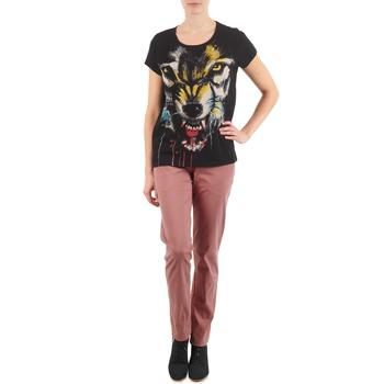Ruhák Női Chino nadrágok / Carrot nadrágok Eleven Paris PANDORE WOMEN Rózsaszín