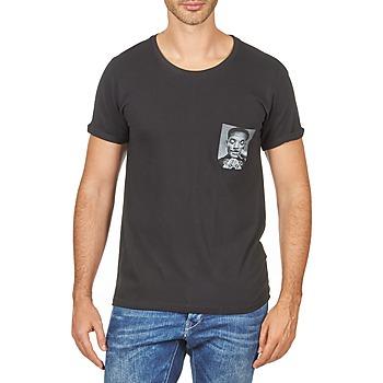 Ruhák Férfi Rövid ujjú pólók Eleven Paris WOLYPOCK MEN Fekete