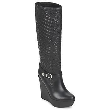 Cipők Női Városi csizmák Versace DSL909R Fekete