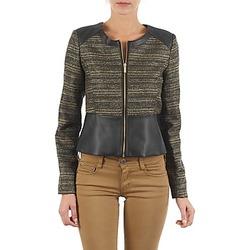 Ruhák Női Kabátok / Blézerek Manoukian QUEELT Fekete  / Arany