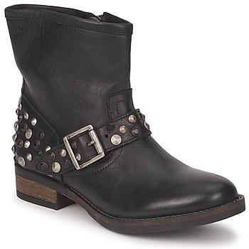 Cipők Női Csizmák Pieces ISADORA LEATHER BOOT Fekete