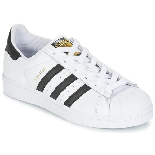 Cipők Gyerek Rövid szárú edzőcipők adidas Originals SUPERSTAR Fehér / Fekete