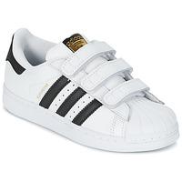 Cipők Gyerek Rövid szárú edzőcipők adidas Originals SUPERSTAR FOUNDATIO Fehér / Fekete
