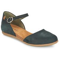 Cipők Női Balerina cipők  El Naturalista STELLA Fekete