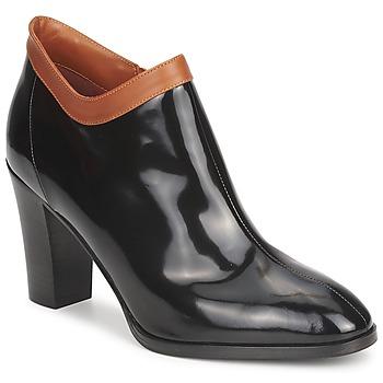 Cipők Női Bokacsizmák Sonia Rykiel 654802 Fekete  / Okker-cserszínű