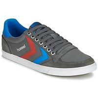 Cipők Rövid szárú edzőcipők Hummel TEN STAR LOW CANVAS Szürke / Kék / Piros