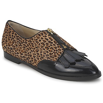 Cipők Női Oxford cipők Etro EBE Fekete  / Bézs