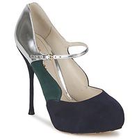 Shoes Női Félcipők John Galliano AO2179 Fekete  / Szürke