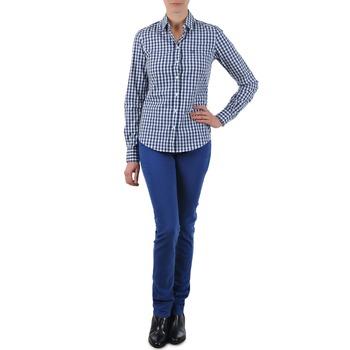 Ruhák Női Egyenes szárú farmerek Gant N.Y. KATE COLORFUL TWILL PANT Kék