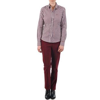 Ruhák Női Chino nadrágok / Carrot nadrágok Gant C. COIN POCKET CHINO Bordó