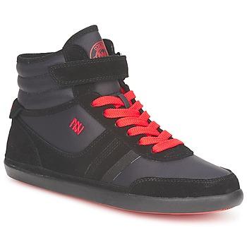 Cipők Női Magas szárú edzőcipők Dorotennis MONTANTE STREET LACETS + VELCRO Fekete