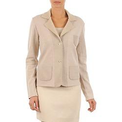 material Női Kabátok / Blézerek Majestic 244 Bézs